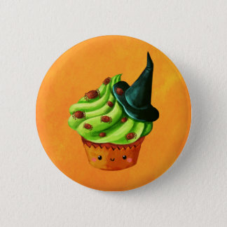 Halloween Cupcake full of tiny spiders 6 Cm Round Badge