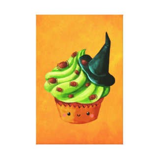 Halloween Cupcake full of tiny spiders Canvas Print