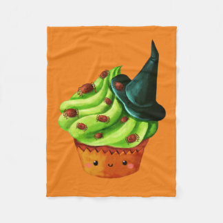 Halloween Cupcake full of tiny spiders Fleece Blanket