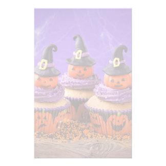 Halloween Cupcake Personalised Stationery