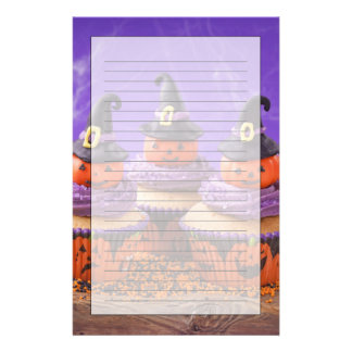 Halloween Cupcake Customized Stationery
