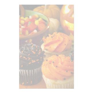 Halloween Cupcakes Stationery Design