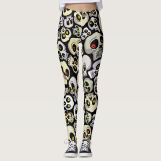 Halloween Custom Leggings/ Skull Leggings