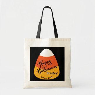 Halloween Custom Name Candy Corn Tote Bag