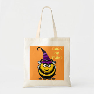 Halloween Cute Cartoon Bumble Bee with Witch Hat