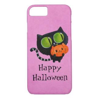Halloween Cute Cat with pumpkin iPhone 8/7 Case