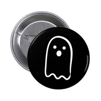 Halloween Cute Ghost Black White Gift Collection Pinback Buttons