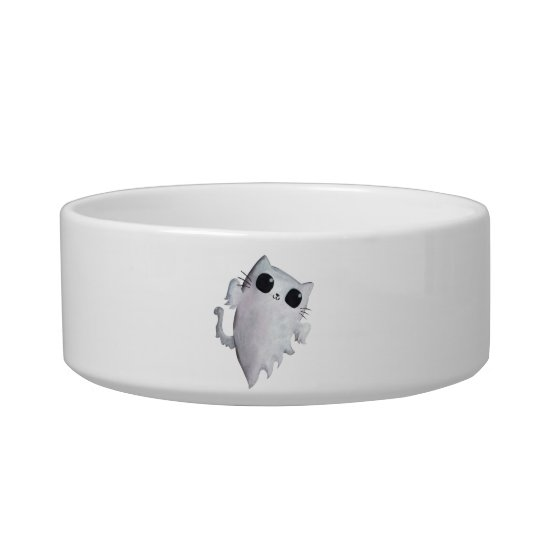 Halloween cute ghost cat bowl