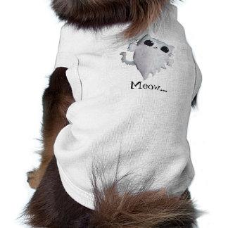 Halloween cute ghost cat sleeveless dog shirt