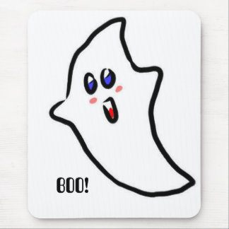 Halloween cute ghost mouse pad