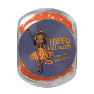 Halloween cute girl from name candy tin
