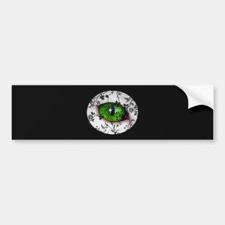 Halloween Cute Girly Eye of Cat Bumper Stickers