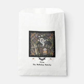 Halloween - Cute Haunted Ghost House (1) Favour Bags