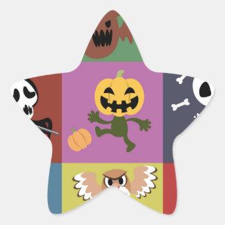 Halloween,cute,kids,pattern,children,fun,happy, Star Sticker