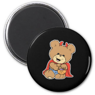 halloween cute little devil  teddy bear design magnets
