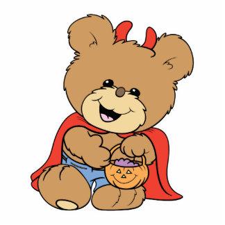 halloween cute little devil  teddy bear design photo sculptures