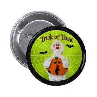 Halloween - Cute Mummy and Pumpkin 6 Cm Round Badge