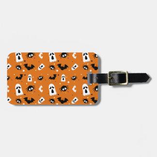 Halloween cute pattern luggage tag
