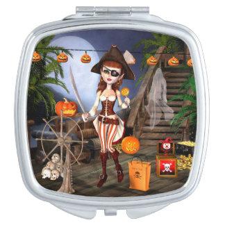 Halloween Cute Pirate Girl Compact Mirror