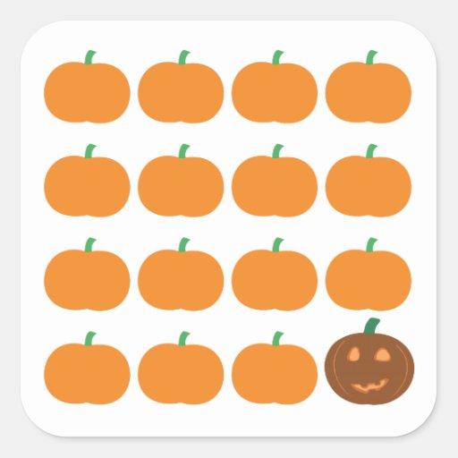 Halloween Cute Pumpkin Patch Stickers