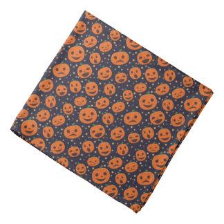 Halloween Cute Pumpkin Pattern Jack O Lantern Bandana