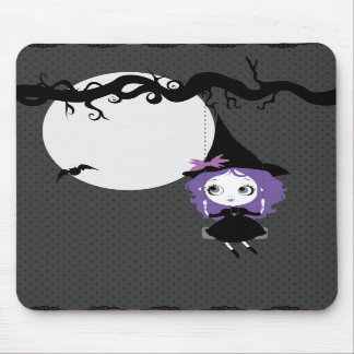 Halloween Cute Witch Violet mousepad
