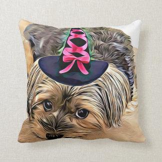 Halloween Cute Yorkshire Terrier Dog,Yorkie Cushion