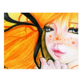 Halloween Cutie freckles Postcard