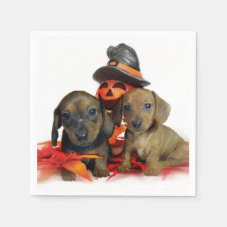 Halloween Dachshund puppies Paper Napkin
