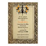 Halloween Damask and Chandelier Bridal Shower 13 Cm X 18 Cm Invitation Card