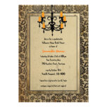 Halloween Damask and Chandelier Bridal Shower Custom Announcements