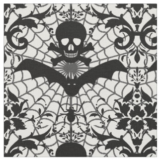 Halloween Damask Fabric