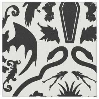 Hallowe'en Damask Fabric