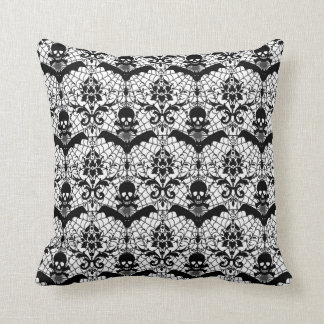 Halloween Damask Throw Pillow