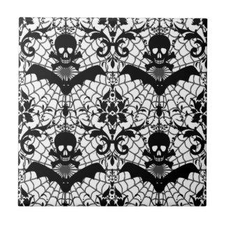 Halloween Damask Tile