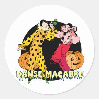 Halloween--Danse Macabre Round Sticker