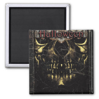 Halloween Dark Poster Template Square Magnet