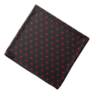 Halloween Dark Red Spiders on Black Bandana