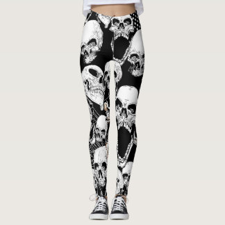 Halloween Dark Skulls Leggings