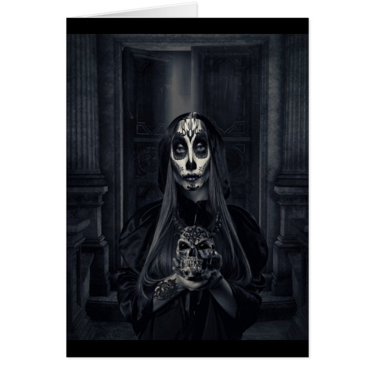 Halloween Day Of The Dead Card
