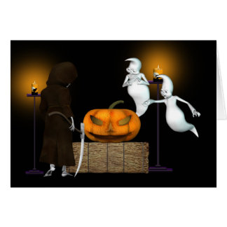 Halloween Deal .. the ghosts hard sell Greeting Card