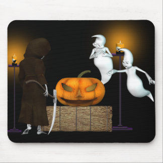 Halloween Deal .. the ghosts hard sell Mouse Pad