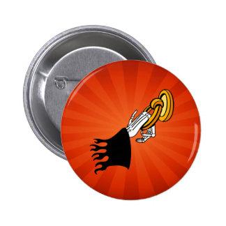 Halloween Death Knocking Grim Reaper 6 Cm Round Badge