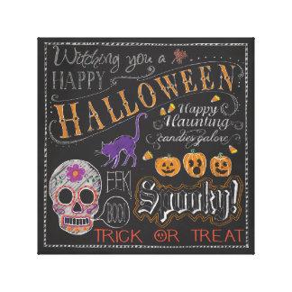 Halloween Decor Stretched Canvas Print