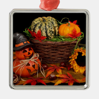 Halloween Decoration Silver-Colored Square Decoration