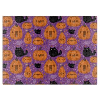 Halloween Decorative Glass Cutting Board/Black Cat Cutting Board