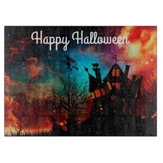 Halloween Decorative Glass Cutting Board/Black Cat Cutting Boards