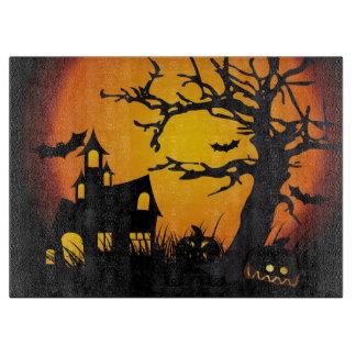 Halloween Decorative Glass Cutting Board/Haunted Cutting Boards