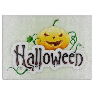Halloween Decorative Glass Cutting Board/Pumpkin Cutting Board