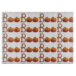 Halloween Decorative Glass Cutting Board/Pumpkins Cutting Board